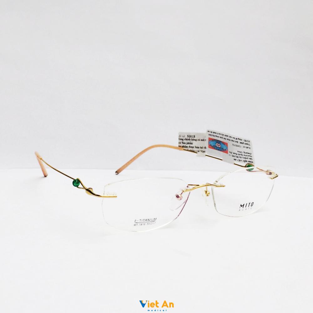 Gọng kính khoan mito MT1816-C01 Chính hãng
