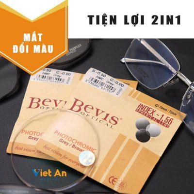 Tròng mắt kính đổi màu Bevis 1.56
